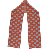 Extra Large Orange & Denim Spot Lambswool Scarf