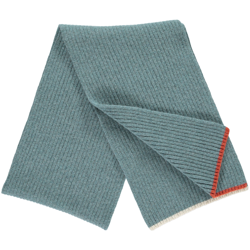5f734552497d5 Rib Sea Green Lambswool Scarf – Catherine Tough