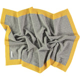 yellow and grey baby blanket
