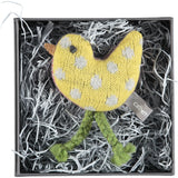 Mini Knitted Yellow Chick With Lavender