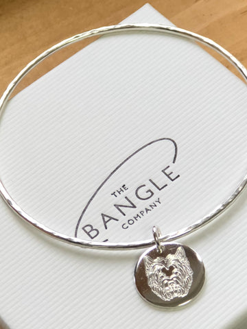 Sterling Silver Westie Bangle