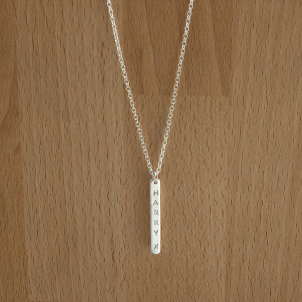 Verticle Drop Tag Necklace