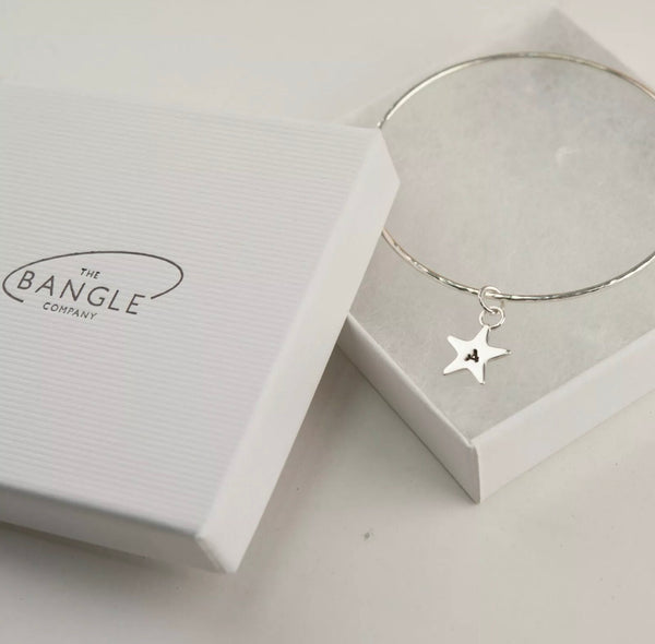 Skinny Star charm bangle