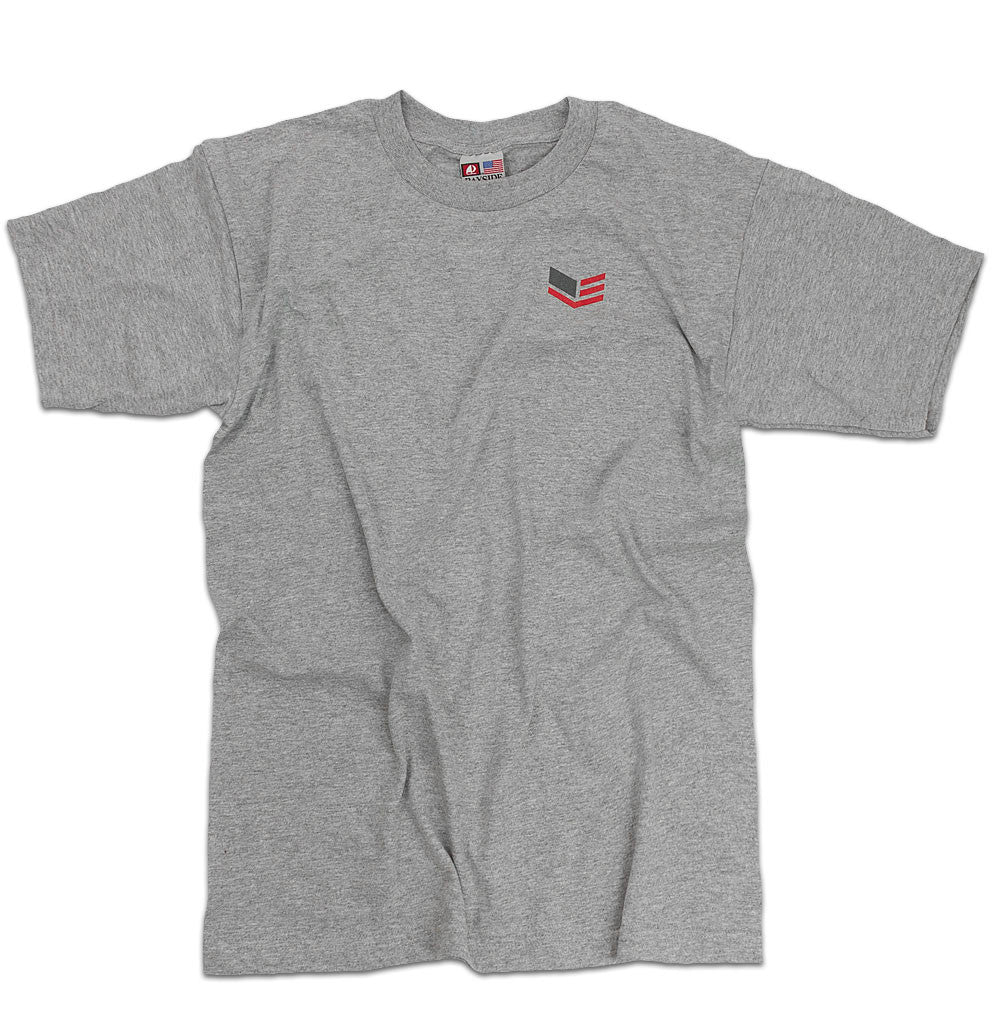 Short-sleeve Gray T-shirt With Logo