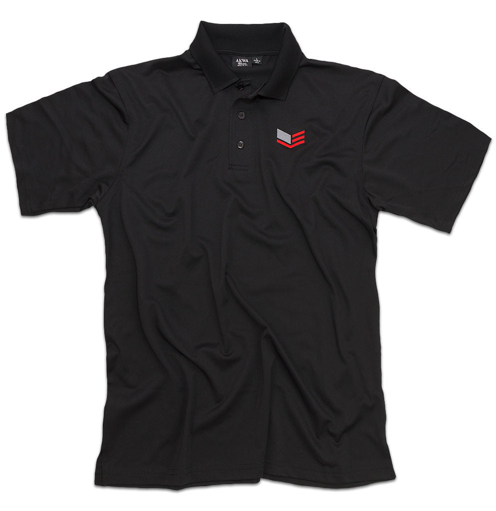 Men's Black Polo Shirt With Logo