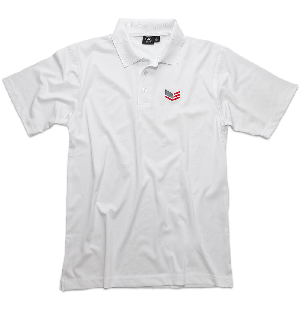 Men's White Polo Shirt With Logo