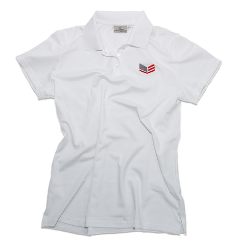 Women's White Polo Shirt With Logo