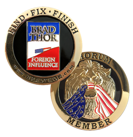 LIMITED EDITION Foreign Influence Challenge Coin