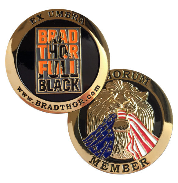 LIMITED EDITION Full Black Challenge Coin