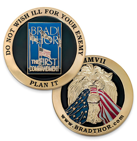 LIMITED EDITION The First Commandment Challenge Coin