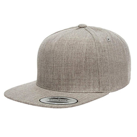 PREMIUM 5 PANEL SNAPBACK HEATHER GREY