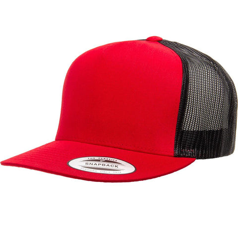 5 PANEL CLASSICTRUCKER 2-TONE RED/BLACK