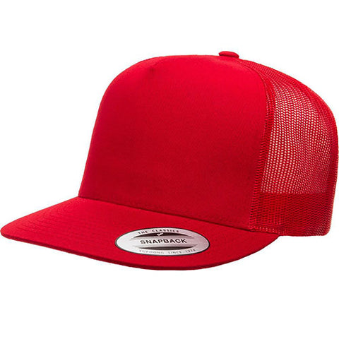 5 PANEL CLASSIC TRUCKER RED