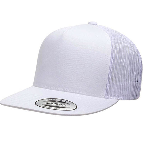 5 PANEL CLASSIC TRUCKER WHITE