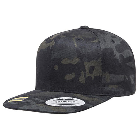 [NEW] Yupoong Classic Snapback MULTICAM BLACK