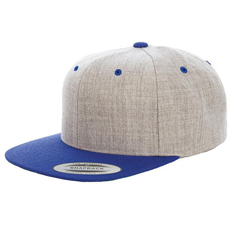 Yupoong The Classic Snapback Heather/Royal