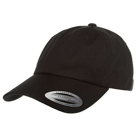 UNSTRUCTURED LOW PROFILE COTTON TWILL DAD HAT BLACK