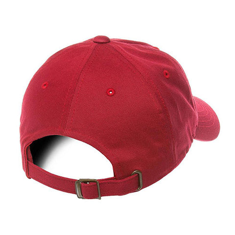 UNSTRUCTURED LOW PROFILE COTTON TWILL DAD HAT CRANBERRY
