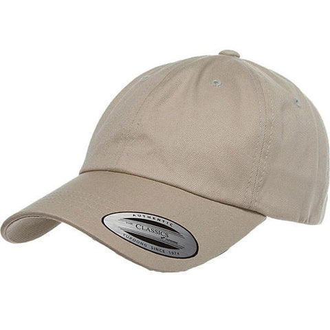 UNSTRUCTURED LOW PROFILE COTTON TWILL DAD HAT KHAKI