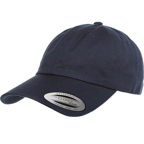 UNSTRUCTURED LOW PROFILE COTTON TWILL DAD HAT NAVY