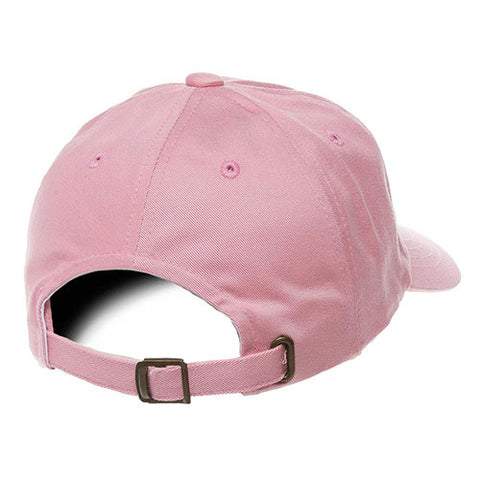 UNSTRUCTURED LOW PROFILE COTTON TWILL DAD HAT PINK