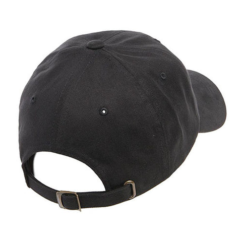 PEACHED COTTON TWILL DAD CAP BLACK