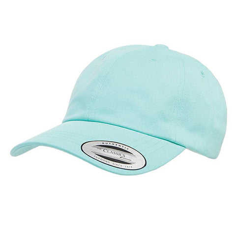 PEACHED COTTON TWILL DAD CAP DIAMOND BLUE
