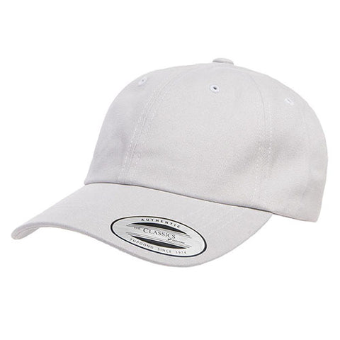 PEACHED COTTON TWILL DAD CAP LIGHT GREY