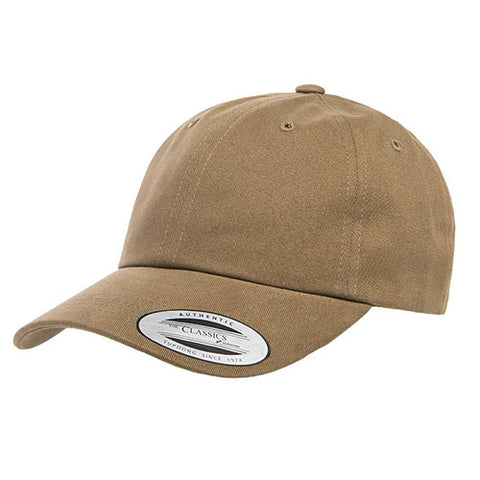PEACHED COTTON TWILL DAD CAP LODEN