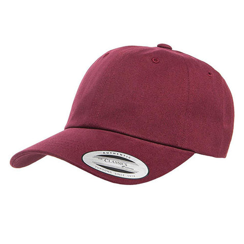 PEACHED COTTON TWILL DAD CAP MAROON