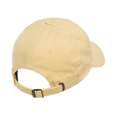 PEACHED COTTON TWILL DAD CAP YELLOW