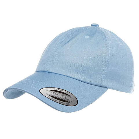 UNSTRUCTURED LOW PROFILE COTTON TWILL DAD HAT LIGHT BLUE