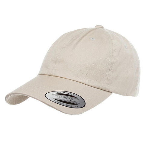 UNSTRUCTURED LOW PROFILE COTTON TWILL DAD HAT STONE