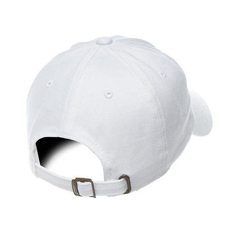 UNSTRUCTURED LOW PROFILE COTTON TWILL DAD HAT WHITE