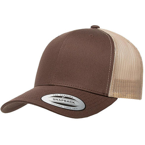 6 PANEL RETRO TRUCKER 2-TONE BROWN/KHAKI