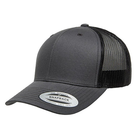 6 PANEL RETRO TRUCKER 2-TONE CHARCOAL/BLACK