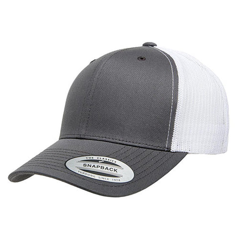 6 PANEL RETRO TRUCKER 2-TONE CHARCOAL/WHITE