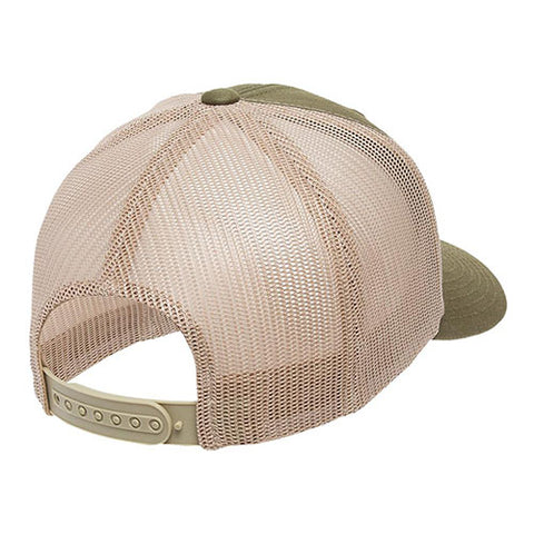 6 PANEL RETRO TRUCKER 2-TONE MOSS/KHAKI