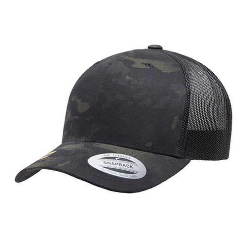 6 PANEL RETRO TUCKER MULTICAM BLACK