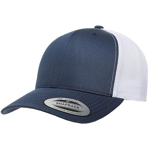 6 PANEL RETRO TRUCKER 2-TONE NAVY/WHITE