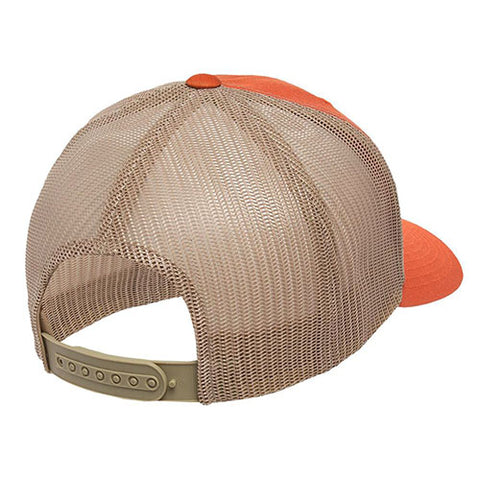 6 PANEL RETRO TRUCKER 2-TONE RUSTIC ORANGE/KHAKI