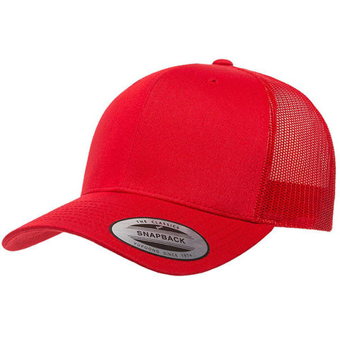 6 PANEL RETRO TRUCKER RED