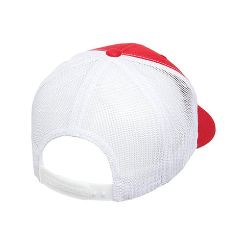 6 PANEL RETRO TRUCKER 2-TONE RED/WHITE