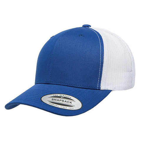 6 PANEL RETRO TRUCKER 2-TONE ROYAL/WHITE