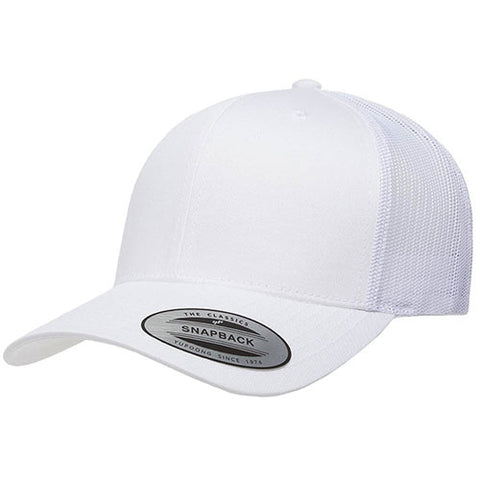 6 PANEL RETRO TRUCKER WHITE