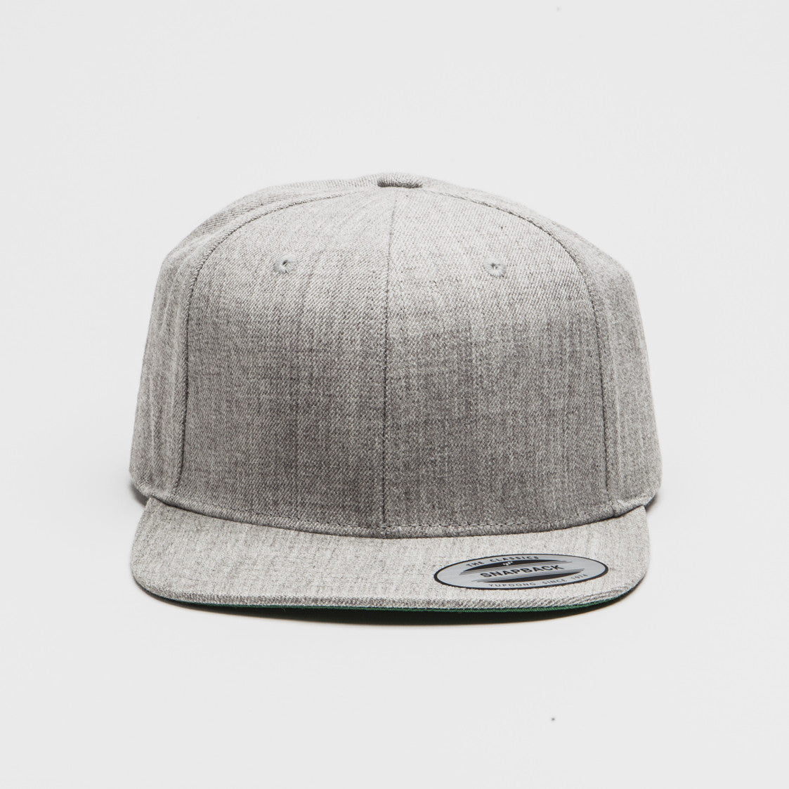 6e54dfd6f78c3 Yupoong The Classic Snapback Heather Grey