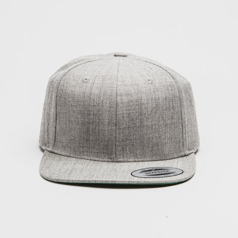 Yupoong The Classic Snapback Heather Grey