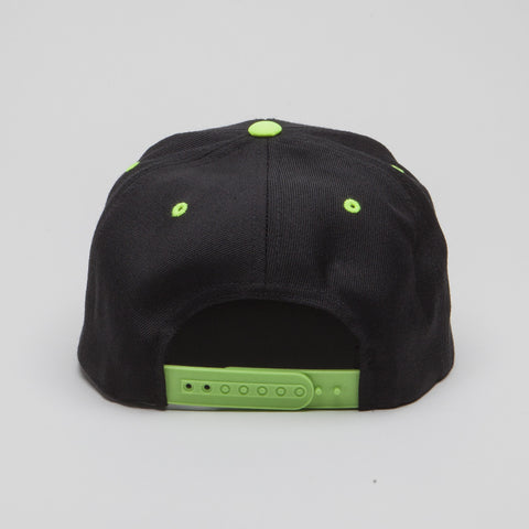 Yupoong The Classic Snapback Black/Neon Green
