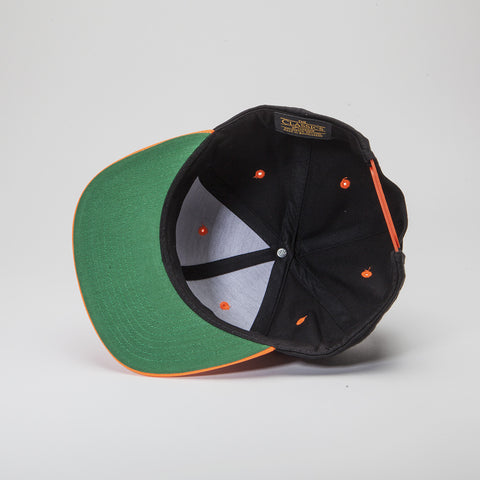 Yupoong The Classic Snapback Black/Neon Orange