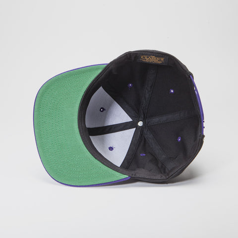 Yupoong The Classic Snapback Black/Purple